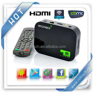 Android TV Box Dualcore HD Media Box Android 4.2 потокового плеера XBMC Miracast Airplay DLNA Android телеприставке
