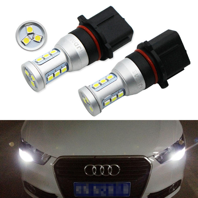 Auto P13W LED Error Free Canbus 12SMD-3030 SH24W LED Bulbs For 2008-2012 Audi A4 Q5 Daytime Running Lights,White