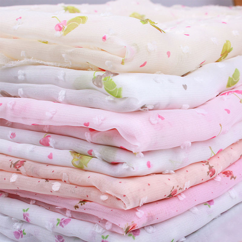 Wholesale comfortable 100% polyester jacquard chiffon fabric for garment