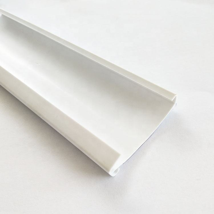 PVC Plastik Rak Supermarket Data Strip Tempat Label Gantung Tampilan Klip Strip
