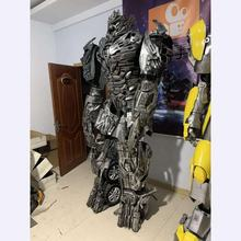 HI Custom mascot costume 2.7M tall transformer realistic robot costume for adults