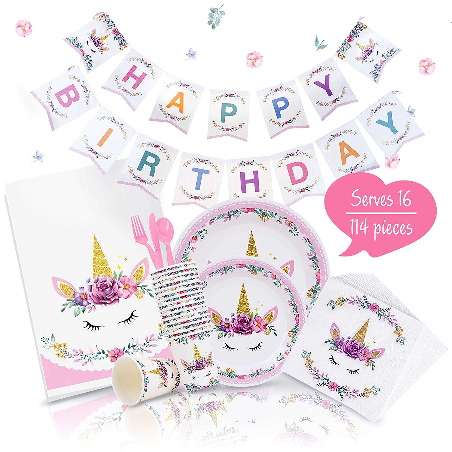 New arrival rainbow unicorn for sale Unicorn Party Supplies | Complete Unicorn Birthday Party Set