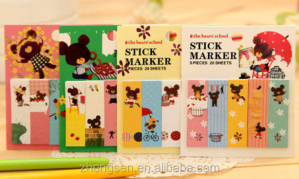 stick marker/sticky notes set for 2014 new product