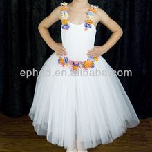 White romantic ballet tutu for kids/performance dancing costumes EPC-014