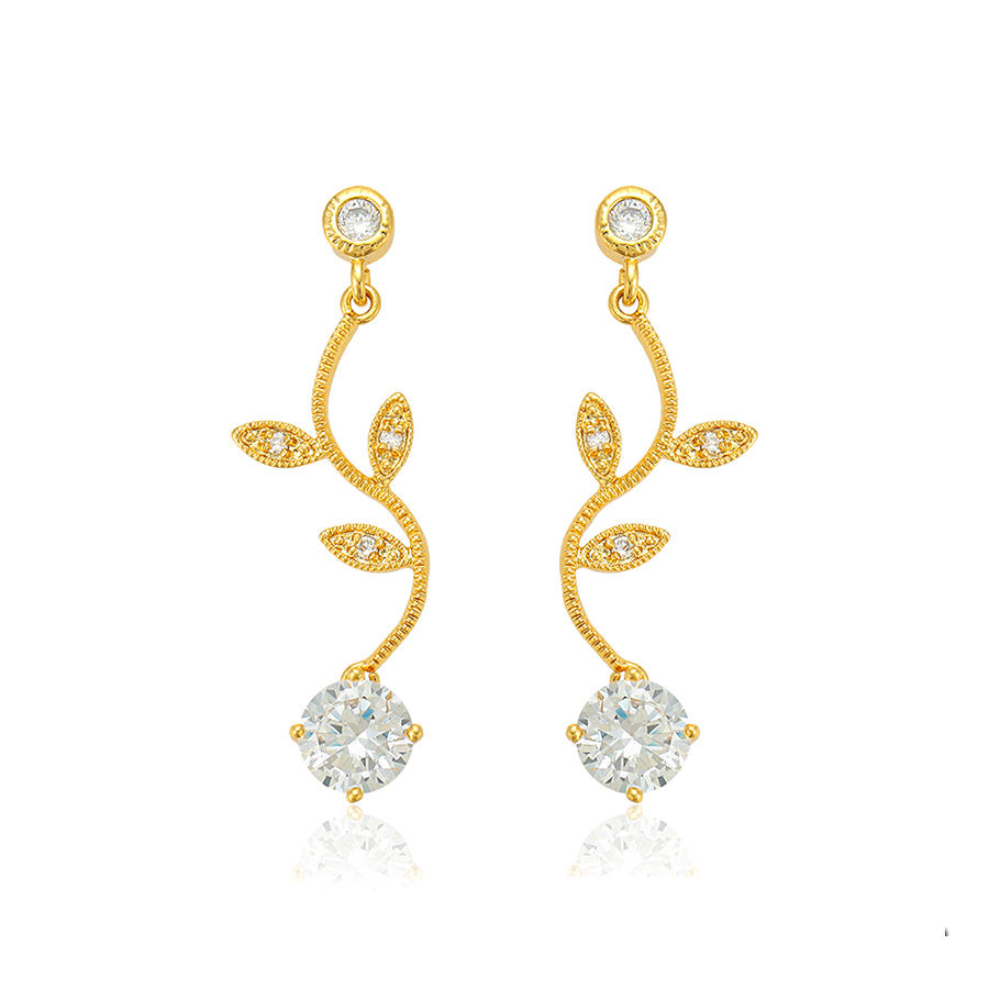 95106 xuping bridal jewelry manufacturer latest product in 2018 24k gold dangle earring