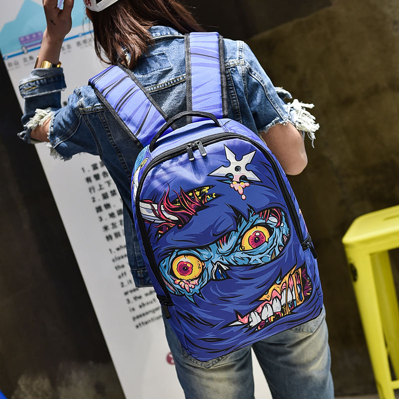 Custom print printed funny personalized oxford fabric pattern backpack for school