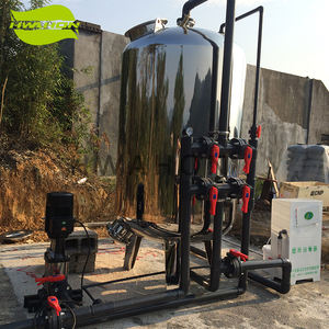 Stainless Steel Industri Air Karbon Aktif Filter Housing Pengolahan Air Nozzle Sand Filter