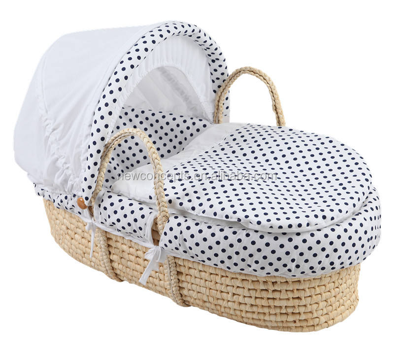 Baby carry cot corn husk moses basket for baby sleeping and carrying Plush-YB2