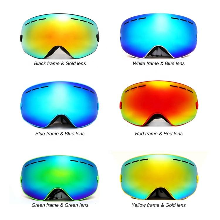 ZOYOSPORTS 2019 New Arrival Snow Goggles Double Layer Ski Snowboard Goggles Wide Vision Anti-fog Can Change Lens Ski Glasses