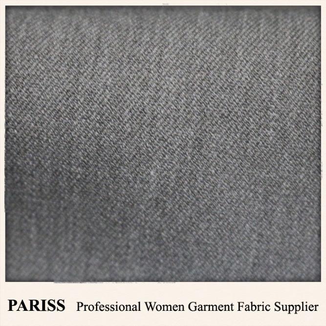 PARISS chine fournisseurs <span class=keywords><strong>polyester</strong></span> viscose spandex pièce mélangé teints sergé tissu