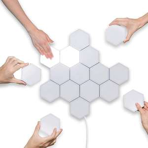 Quantum Hexagonal Nightlight Honeycomb Wall Lamp Inductive Touch Studio Dimmer Led Touch Light