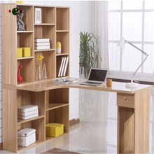 good quality modern new design wooden computer table with bookshelf
