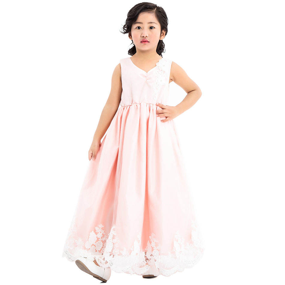 Floral 2 Rand Baby Dress Flower Girl Boutique Dresses for Year Old Kids Clothes Latest Frocks Net Designs Elegant