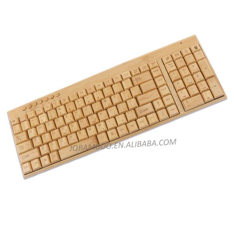 Jiangqiao Bamboo Electronic Wireless USB Bamboo Wooden Laptop Keyboard