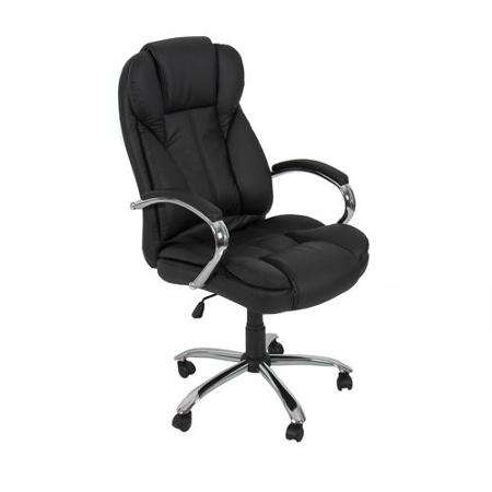 PU Leather High Back Executive Task Office Chair with Metal Base for Computer Desk