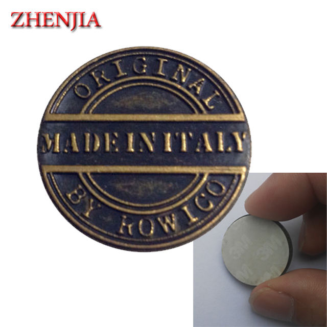 3M adhesive sticker custom metal logo label