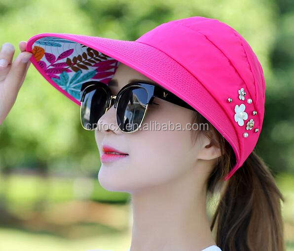 Women Ladies Summer Outdoor Anti-UV Beach Sun Hat / Summer Lady Hat / foldable sun hats
