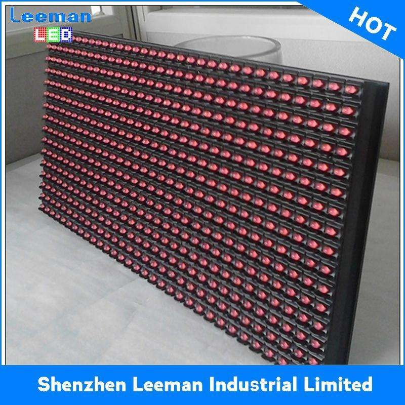 Professional red color MESSAGE BOARD P10 LED DISPLAY MODULE signs panel 32x16 with low price