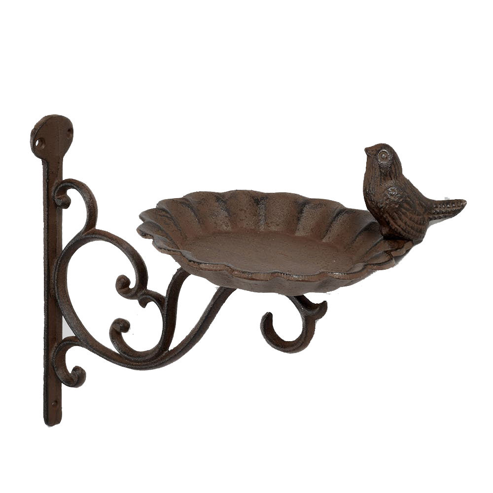 Candle Holder Cast Iron Vintage Bird/'s Flora
