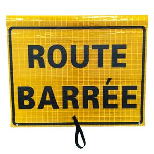 Custom Route Barree Safety Reflective Roll Up Banner Traffic Control Sign ,Roll Up Sign ,Traffic sign and meaning