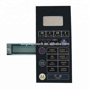 Microwave Oven Font Panel Membrane Switch Control Panel