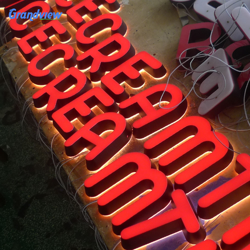 Factory price led front lit Epoxy Resin Light channel letter advertising signage
