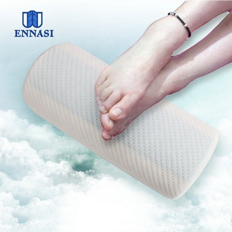 China Factory Directly Sale Half moon Shape bolster Memory Foam Foot Rest Cushion Under Desk