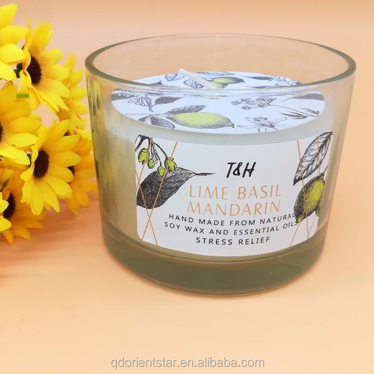 China factory scented candle in glass jar candle10*7.5cm