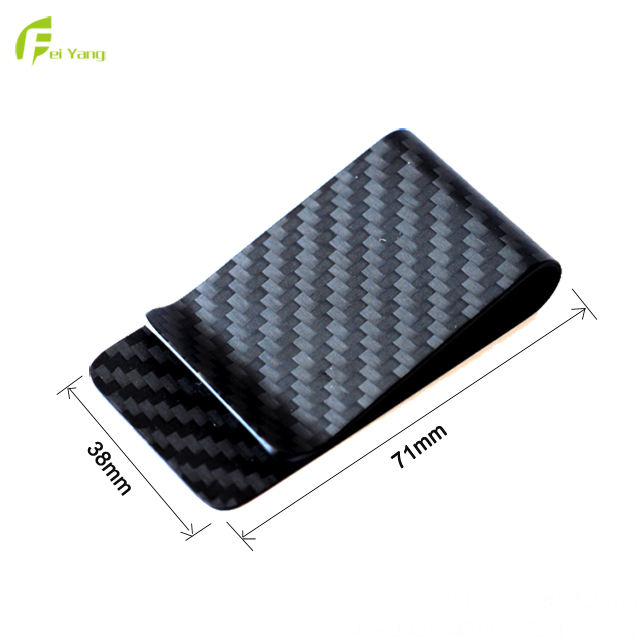 Fashion Customized Best Sale Good Quality 100% Full Carbon Fiber Money Clip