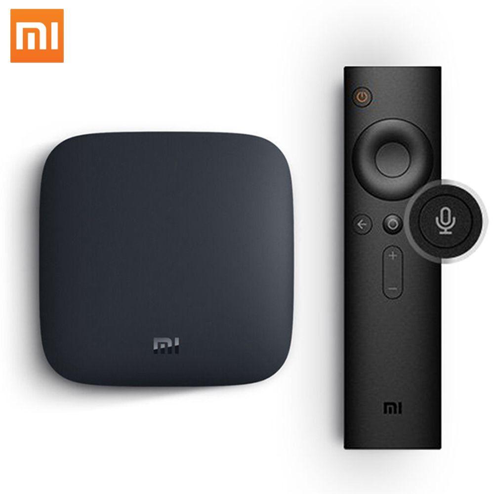 Design de moda xiaomi Quad Core streaming de satélite do google tv caixa preta