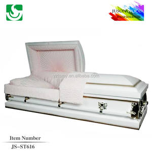 JS-ST616 chinese funeral steel caskets