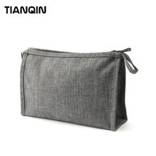 Promotion Fashion Water Resistant Nylon Cosmetic Pouch Make Up Purse Clutch Zipper Bag