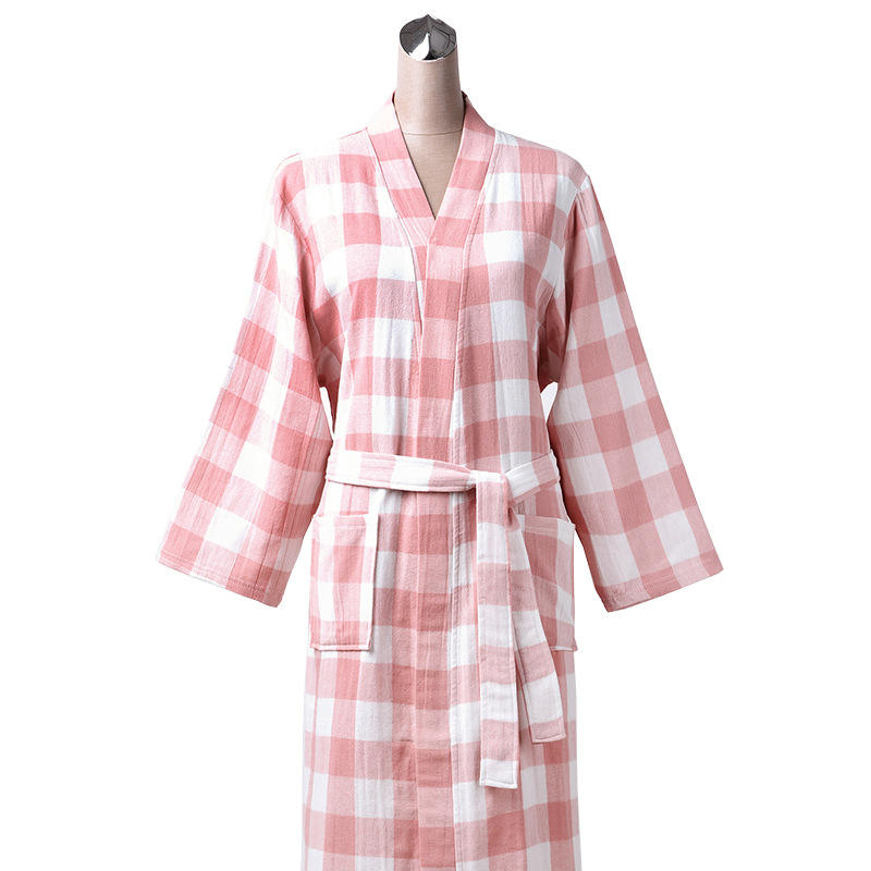 hot sale spa robes Pure cotton Women's Sleepwear hotel bathrobe