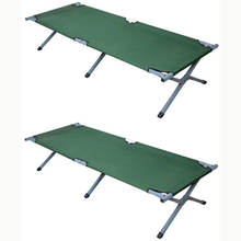 cheap lightweight  foldable Army Cot Folding Military Bed  Camping Bed