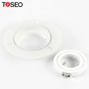 MR16 GU10 recessed lighting adjustable cut size 80mm round led trimless downlight fixture