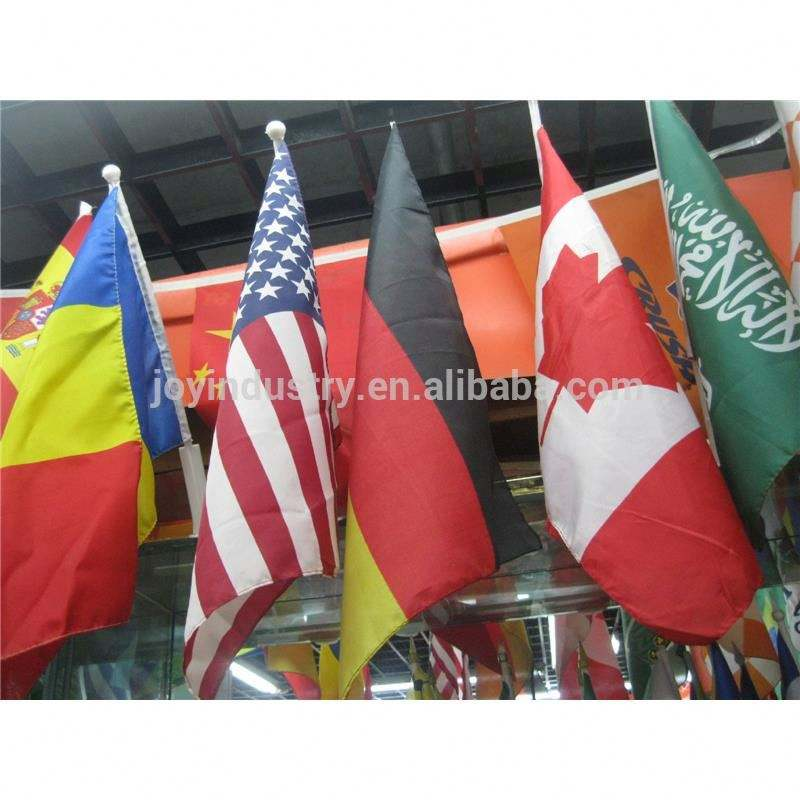 F006 Colorful printed fabric polyester material mini/small glow flag