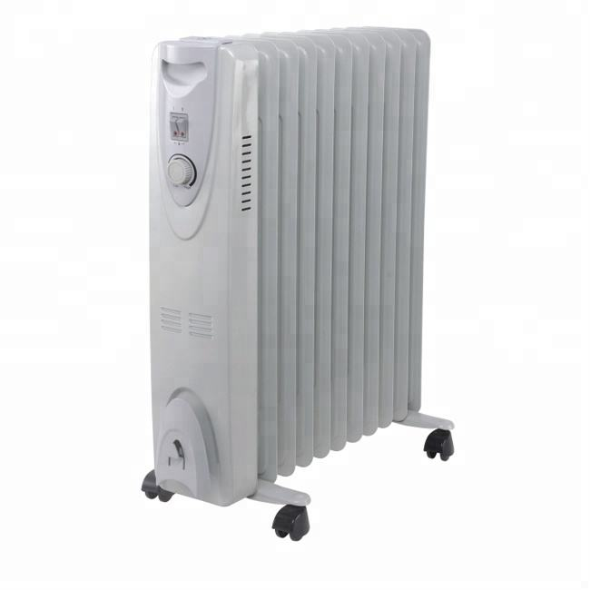 Waste oil filled radiator heater with caster wheel 220-240v