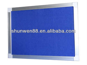 Custom size office notice board wooden surface with aluminium frame plastic ABS corners wall cork bulletin wood board