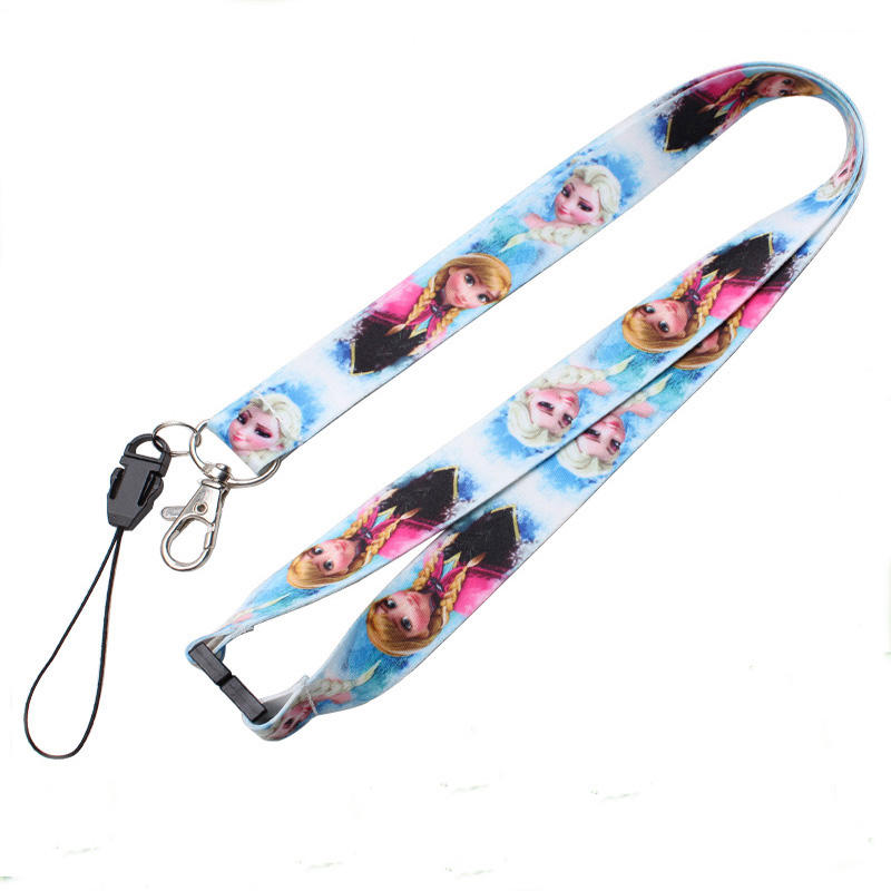 Polyester material printing retractable open ended lanyard