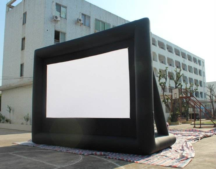 Hot Kustom Ukuran TV Cinema Proyeksi Inflatable Projector Outdoor Layar Film