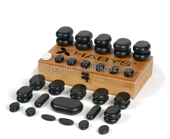 Wholesale natural gemstone hot massage stone set for sale