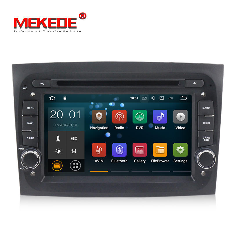 MEKEDE PX3 Android 8.1 quad core 7inch car dvd player with 2+16GB for FIAT Doblo 2015 2016 car radio with WIFI GPS navigation