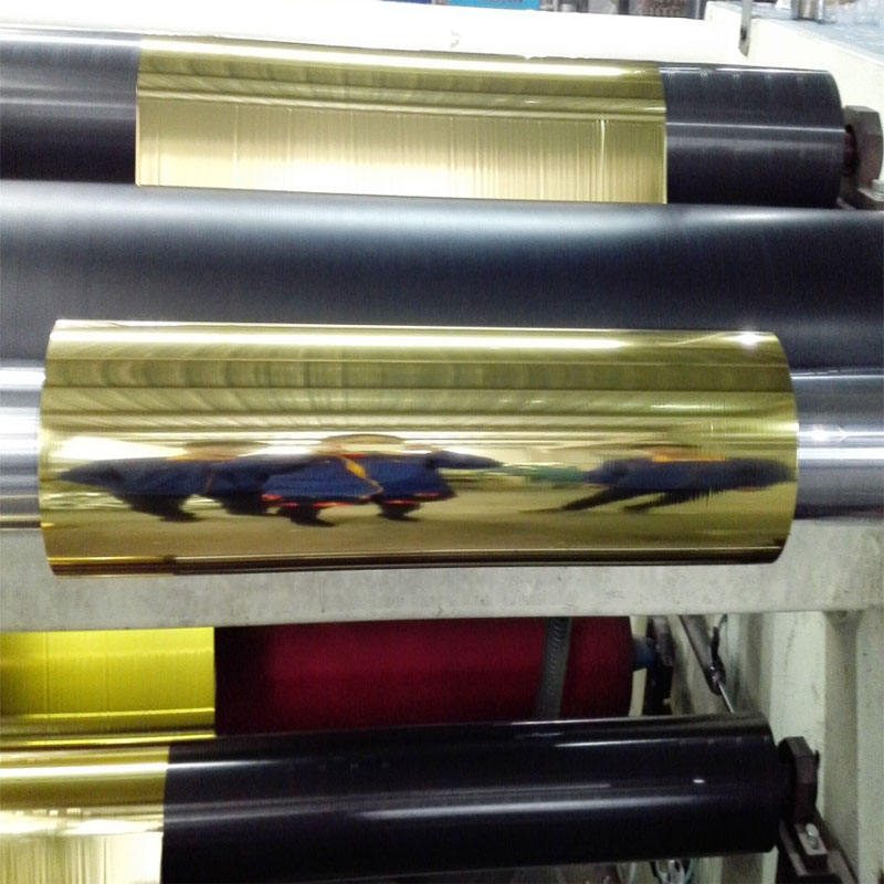 Factory price BOPP/PET metallic lamination film gold and silver Color