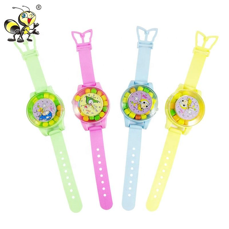 Sweet Cat Light Color Watch Shape Toy Hard Candy