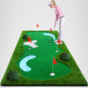 Portátil Mini Campo de Golfe Putting mat para o office mini golf set 1.5m * 3m