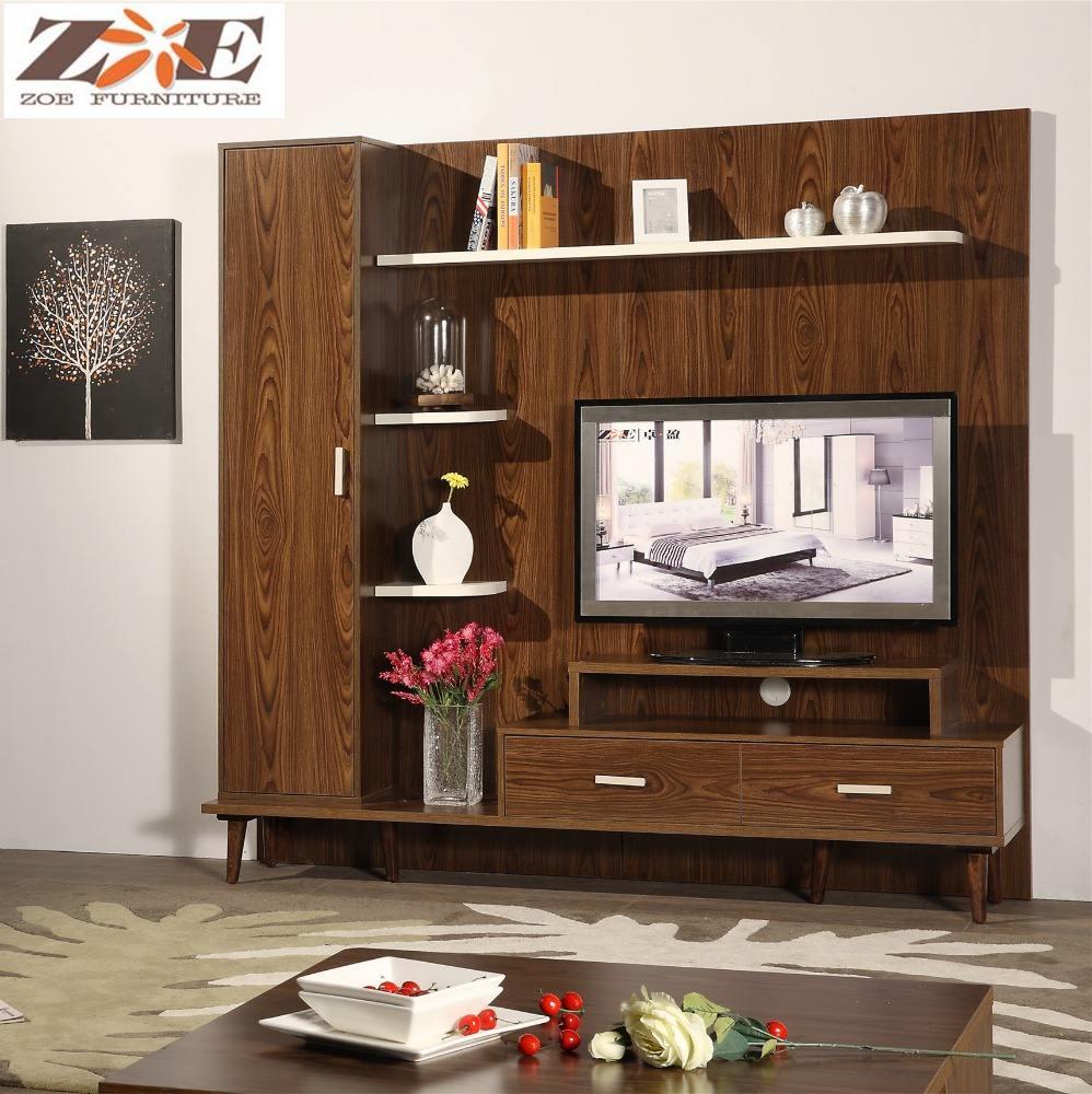 Alibaba Wood Led Tv Wall Unit Furniture