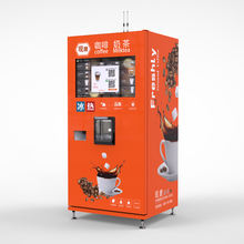 Hot and Ice Coffee Bean Vending Machine with Bill and Coin Acceptor LE308D