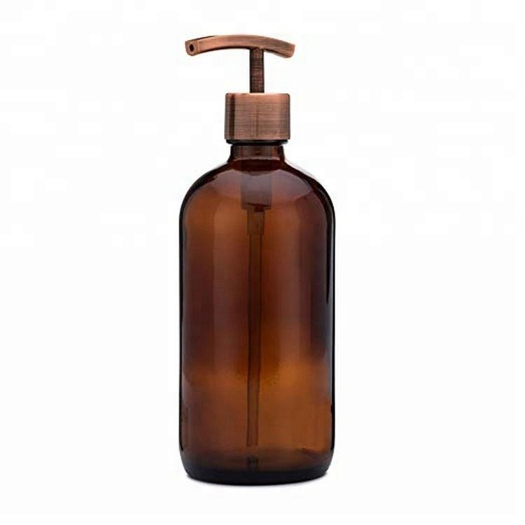 Wholesale Home Decor 2019 New Automatic Hand Sanitizer Large Amber Glass Foaming Liquid Soap Dispenser