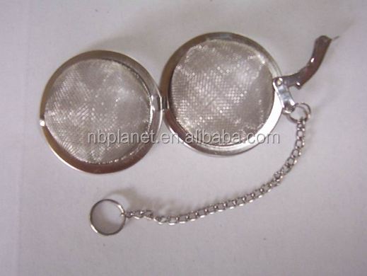 STAINLESS STEEL TEA STRAINER SNAP BALL