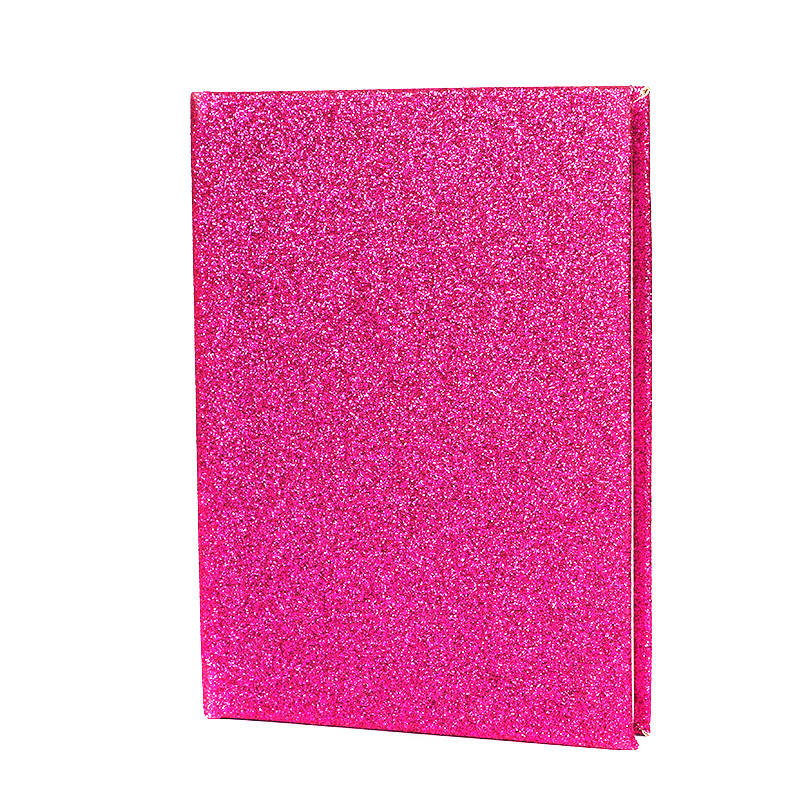 PVC Cover Pink Glitter Pocket Notebook For Girls